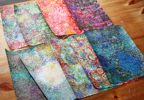Handmade patterned papers by Peony and Parakeet