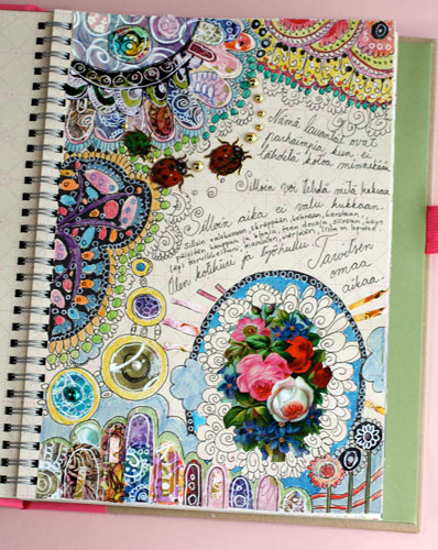 Pretty art journaling by Peony and Parakeet