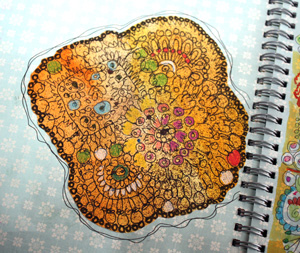Art journal page, a detail