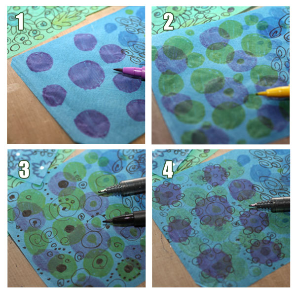 How To Create Tissue Paper Collage Peony And Parakeet