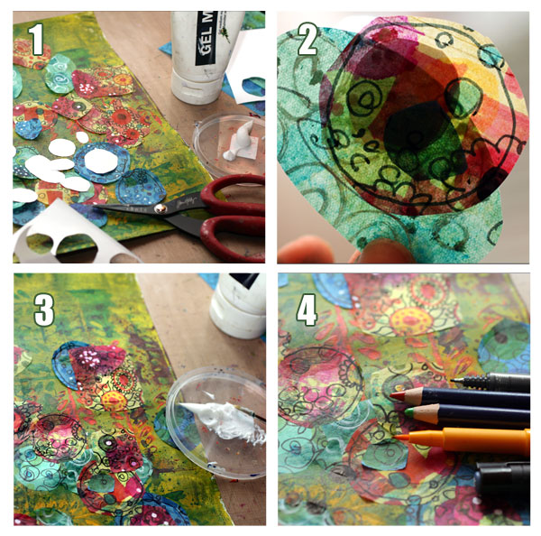Creating a tissue paper collage