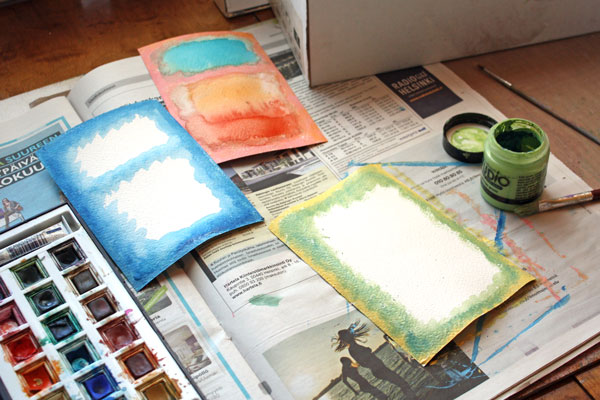 Mark Rothko inspired postcards. By Peony and Parakeet.