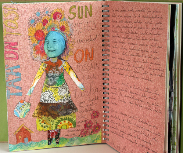 There's a Garden, an art journal page in a Smash book