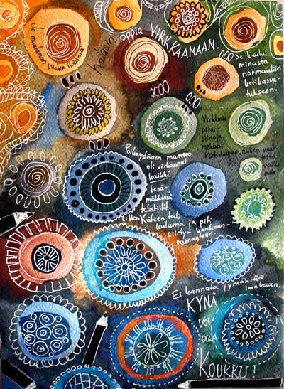 Art journaling doilies