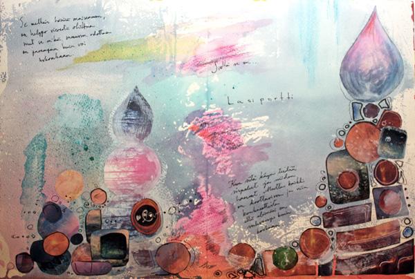 Glass Gate, an art journal page