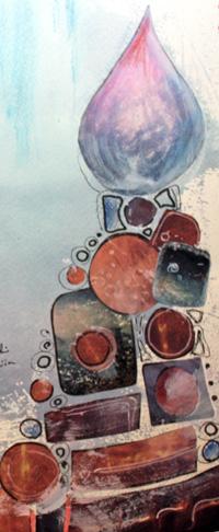 Glass Gate, an art journal page, a detail