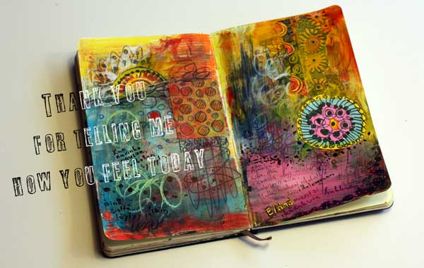 Art journal speaks, by Peony and Parakeet