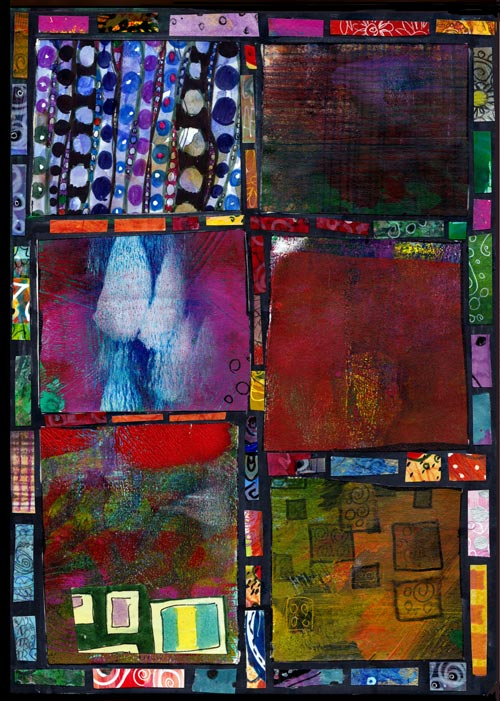 Learned from Quilting, a collage by Peony and Parakeet