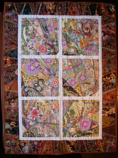 The Time of Miracles, a quilt with hand embroidery by Peony and Parakeet