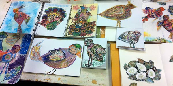 From the students of Birds of Happiness workshop, led by Peony and Parakeet