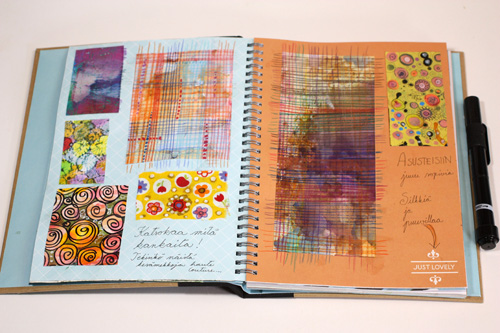 Fabric swatches, fashion art journal, by Peony and Parakeet