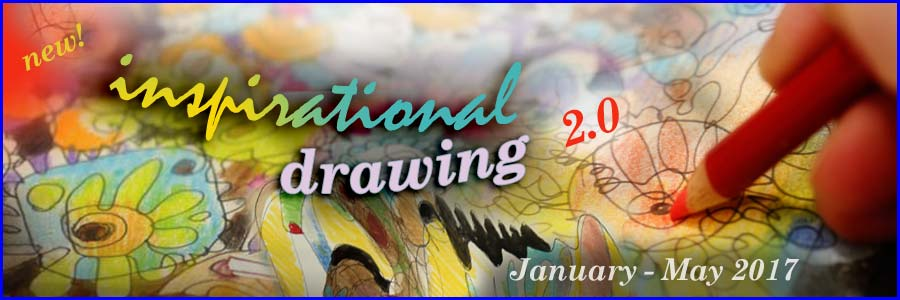Inspirational Drawing 2.0 - Draw from inspiration and imagination! An art class by Paivi Eerola from Peony and Parakeet