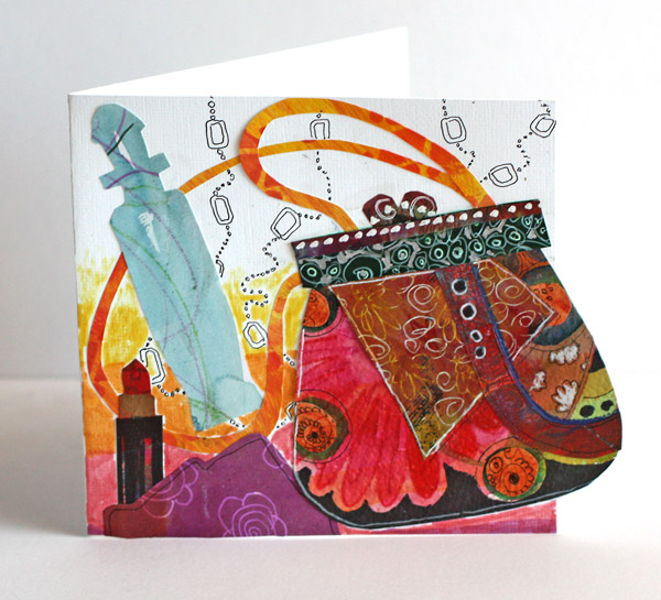 Hand Bag Card by Peony and Parakeet