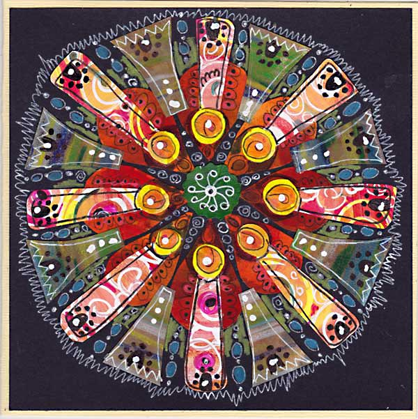 Red Energy Mandala by Peony and Parakeet