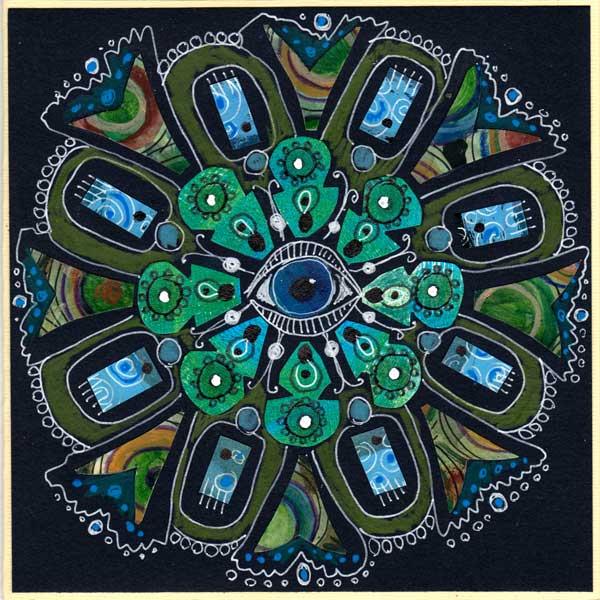 Blue Eye Mandala by Peony and Parakeet