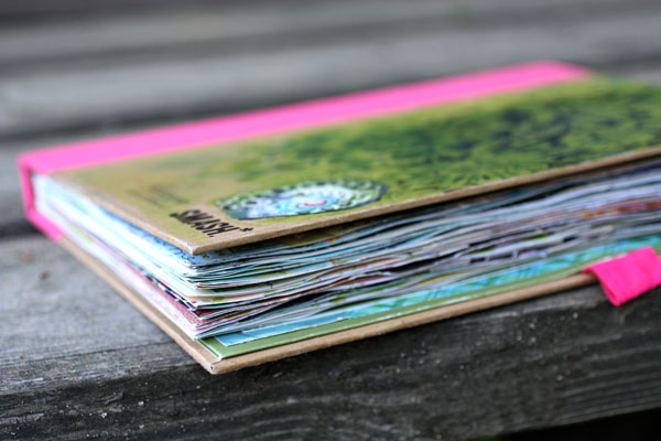 A Smash Book, a finished art journal by Peony and Parakeet.