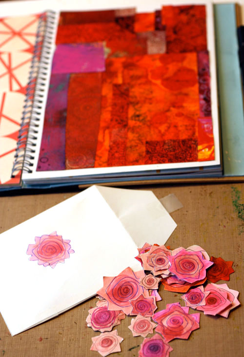 Drawing Roses by Peony and Parakeet