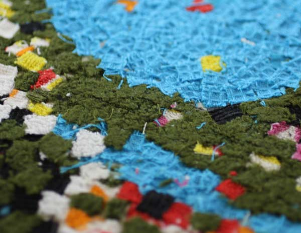 Fabric collage, a detail