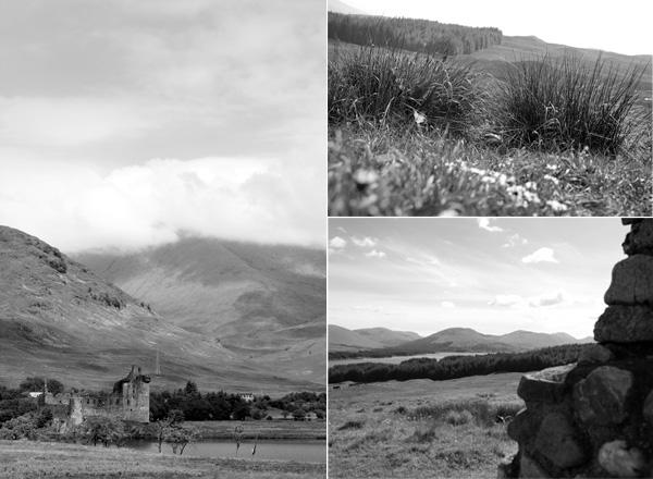 Stalker castle and scottish highlands