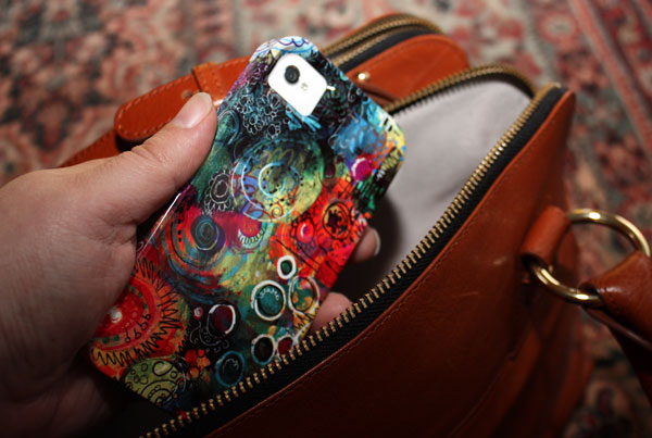 Shadows iPhone case, by Peony and Parakeet