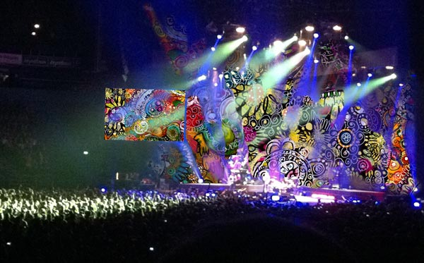 Trick photo: concert background show designed by Peony and Parakeet