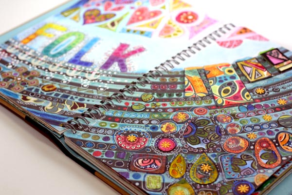 Art journal made from a Smash book by Peony and Parakeet
