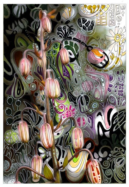 Art Nouveau Martagon by Peony and Parakeet