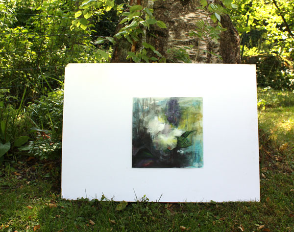 Photographing a painting, Condolences, by Peony and Parakeet
