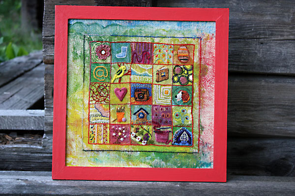 An embroidered sampler, sampler ideas by Peony and Parakeet