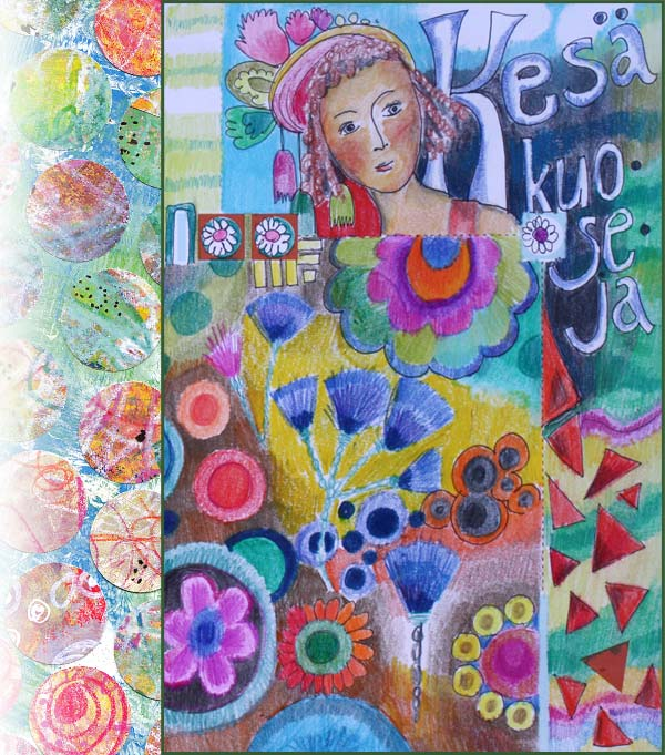 Art journaling about summer fabrics by Peony and Parakeet