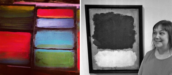 Mark Rothko inspiration by Peony and Parakeet