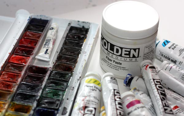 Art supplies. Read about using fiber paste and how to trust yourself when creating art.