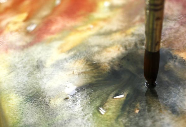 Watercolor strokes. Read about how to trust yourself when creating art.