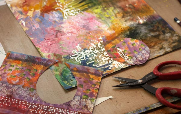 Making of a collage painting by Peony and Parakeet. Read about how to trust yourself when creating art.