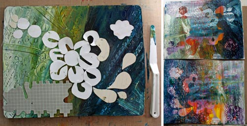 Monoprints by Peony and Parakeet. See 6 tips for using Gelli plate as a tool for self-expression!