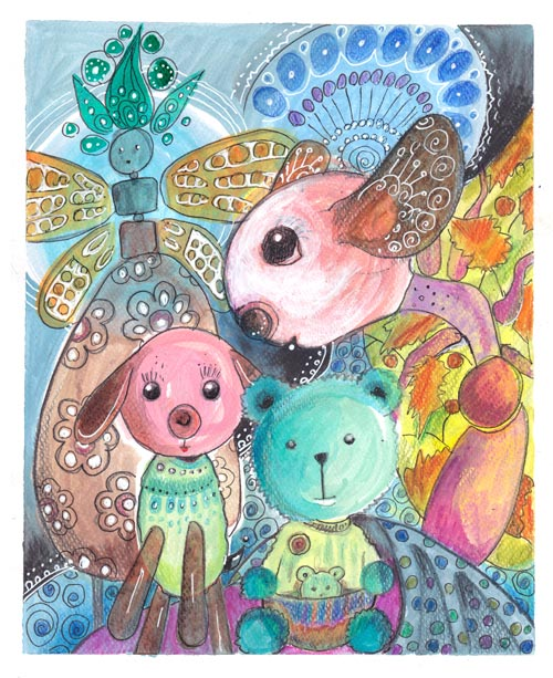 Soulmates, an illustration by Peony and Parakeet. Read more about using pastel colors and see how this artwork was made!