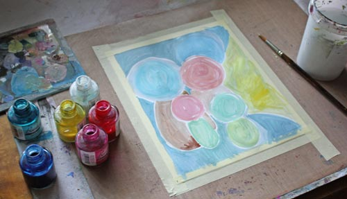 Read more about using pastel colors and see how this artwork was finished!