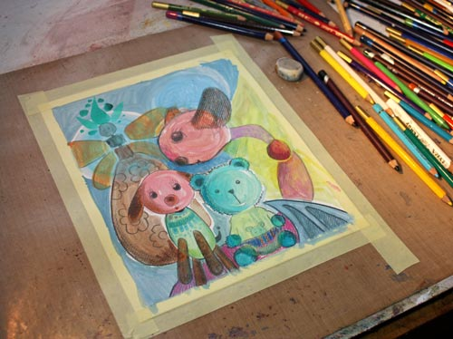 Read more about using pastel colors and see how this artwork was made!
