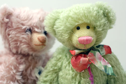 Cute collector teddy bears manufactured by Steiff and Teddy Hermann