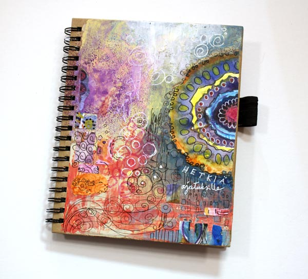 A mini Smash book, finished art journal by Peony and Parakeet