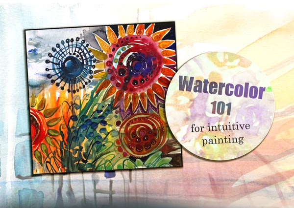 Watercolor 101 for Intuitive Painting, an inspirational video by Peony and Parakeet