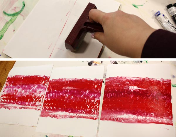 Printing Christmas Cards with a Gelli Plate, by Peony and Parakeet
