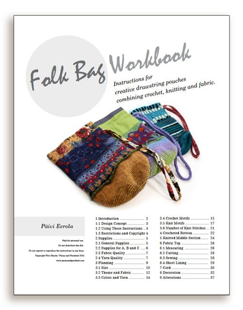 Folk Bag Workbook - Instructions on how to design and make creative drawstring pouches