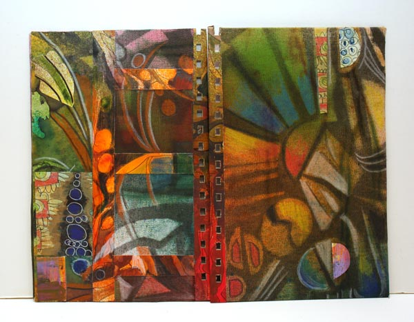 Art Deco style handmade journal covers by Peony and Parakeet