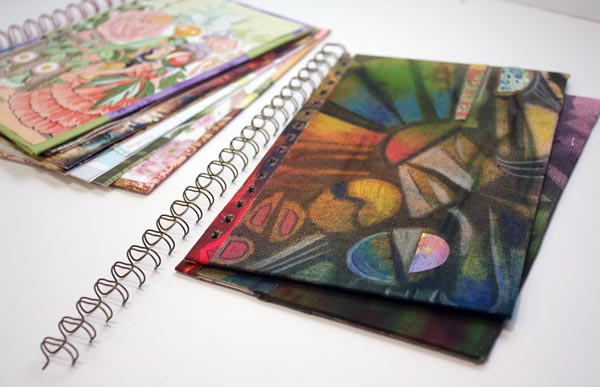 Handmade journal covers by Peony and Parakeet