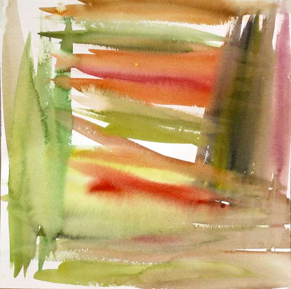 Watercolor background by Peony and Parakeet. Read about using positive self-criticism when creating art!