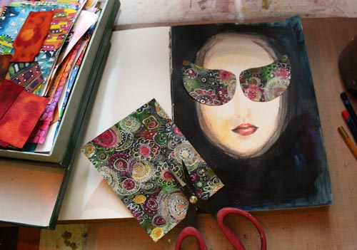 The Discerning Diva - instructions for an art journal page by Peony and Parakeet