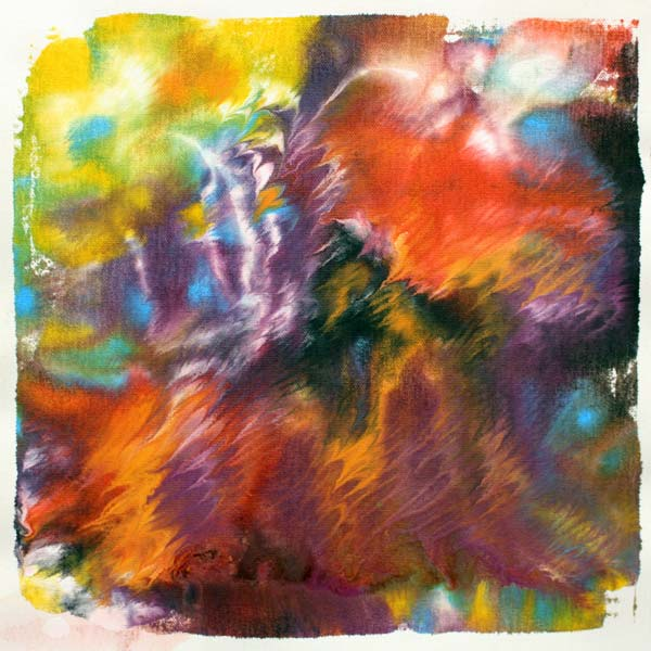 Monotype printing with acrylic paints, by Peony and Parakeet