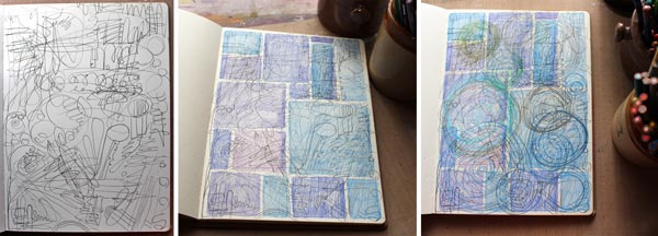 Starting an art journal page, by Peony and Parakeet