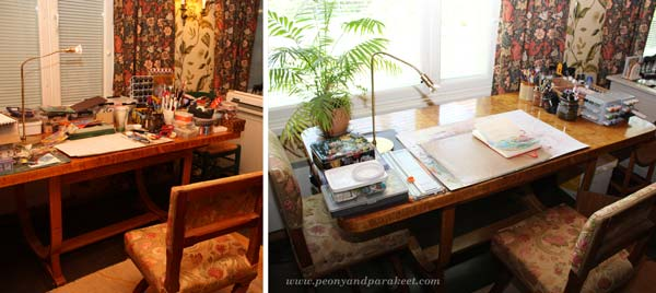 Creative Space before and after, Konmari method, Marie Kondo